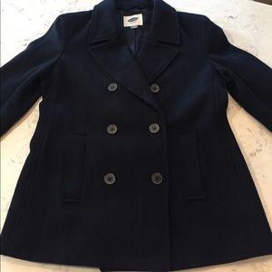 Men's classic navy pea coat sz M